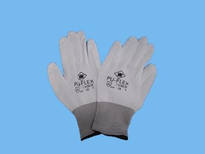 Handschoen (PU gecoat) bruine rand XL